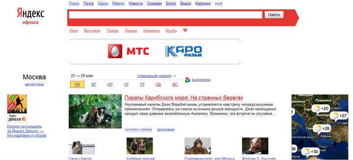 Настройка медийной рекламы Яндекс.Афиша